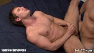 Sexy gay gets ass fucked and cock jizzed