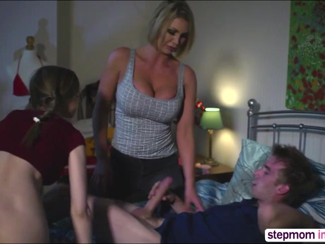 Teens Give Babysitter Blowjob