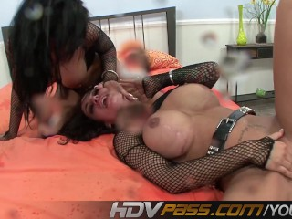 HDVPass Squirting MFF threesome
