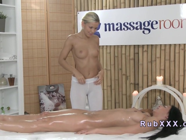 Hot Oil Lesbian Massage