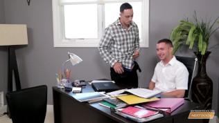 Next Door Buddies Office Hunk Threesome