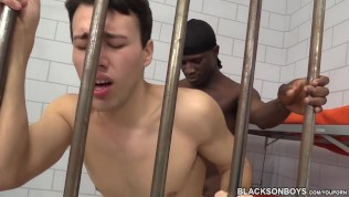 Blake Stone Gets His Ass Filled With Black Cock