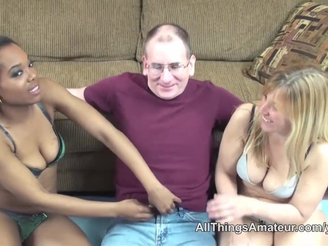 Twin Sisters Share Cock