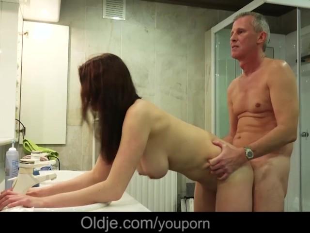old man with big boobs