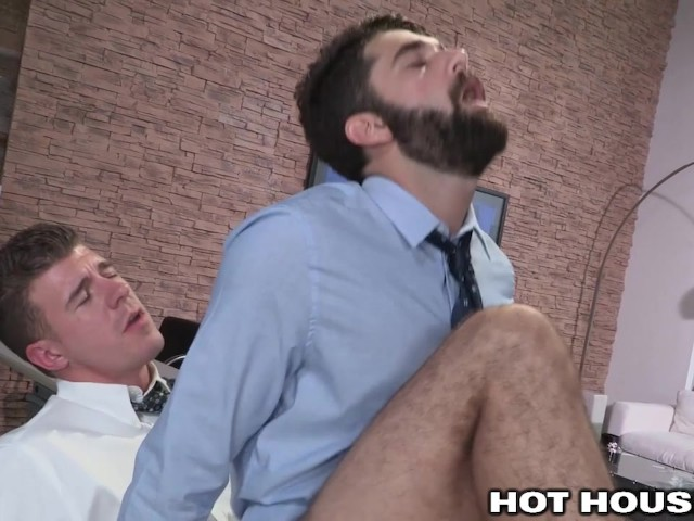 Gay hot sex at the office