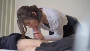 คลิปโป๊ คลิปหลุดลาว XXX  Subtitled Japanese hotel massage leads to blowjob in HD