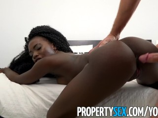 PropertySex – Petite exotic roommate gets guy to cheat on girlfriend