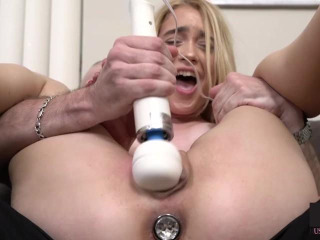 Petite Blonde Lesbian Strap