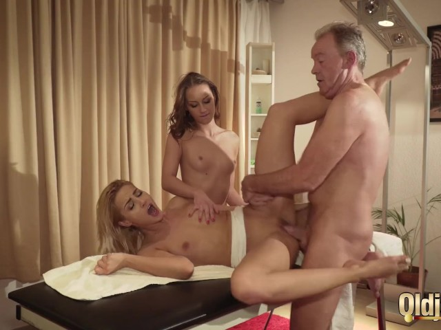 Two Teen Girls Fuck Old Man