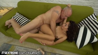 Ravenous Mexican Teen Squirts for Grandpa