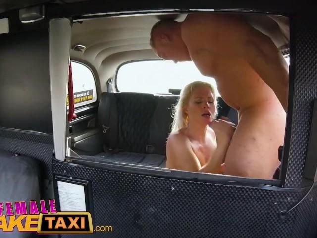 Red Head Lesbian Fake Taxi