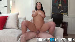 PropertySex - Busty tenant addicted to sex fucks landlord