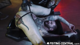 Big Sexy Italian Dr. Daddy Fists Cute Inked Male's Ass