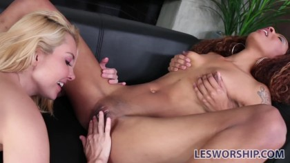 licking pussy from behind
