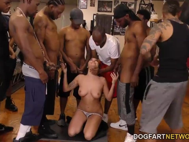 Huge Cock Rough Gangbang