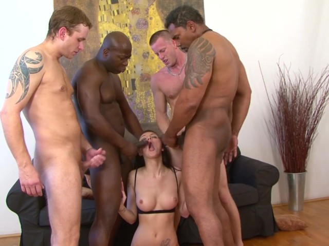 Teen Gangbang Fucked By 4 Men Hardcore And Rough Big Cocks -7554