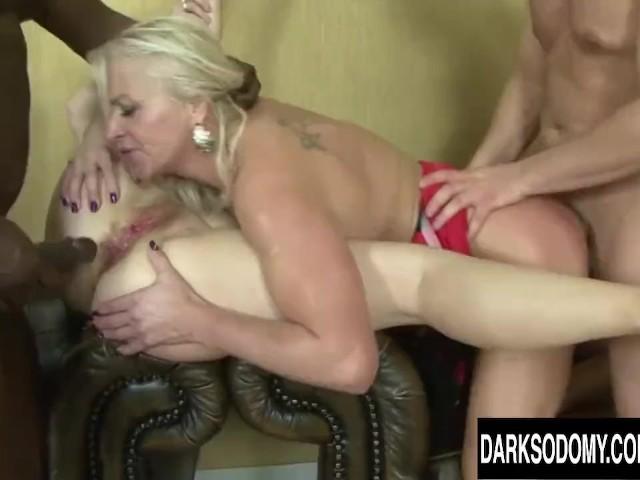 Lesbian Doble Dildo Anal