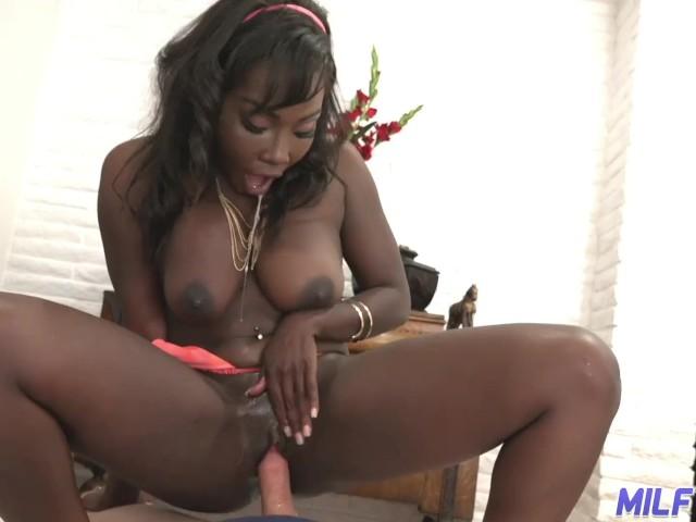 Big Tit Ebony White Cock