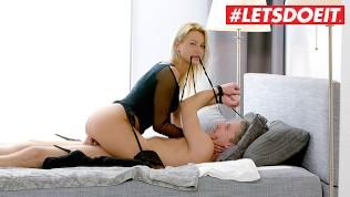 LETSDOEIT - European Blonde Cherry Kiss Bonds and Fucks Lutro's Big Cock