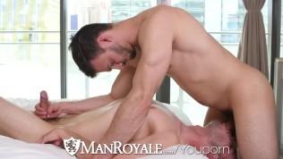 ManRoyale Oiled massage fuck with cumshot
