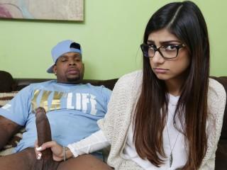MIA KHALIFA - She's Never Tried Big Black Dick Before, So She Asks Rico Strong-
