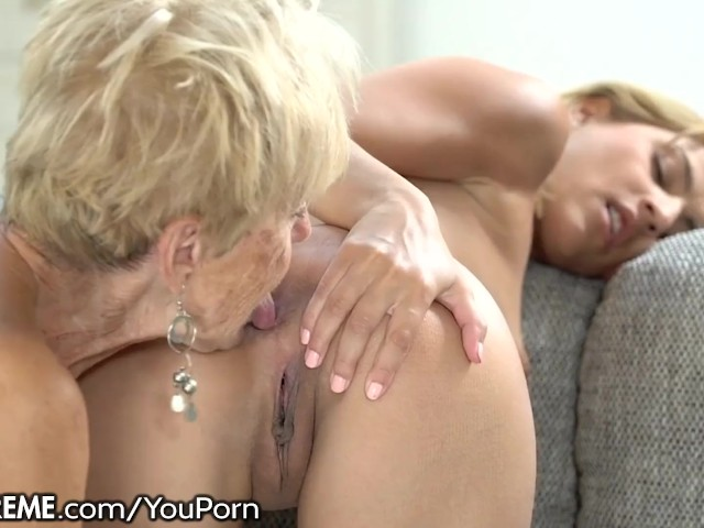 Hot Young Old Lesbian Kissing