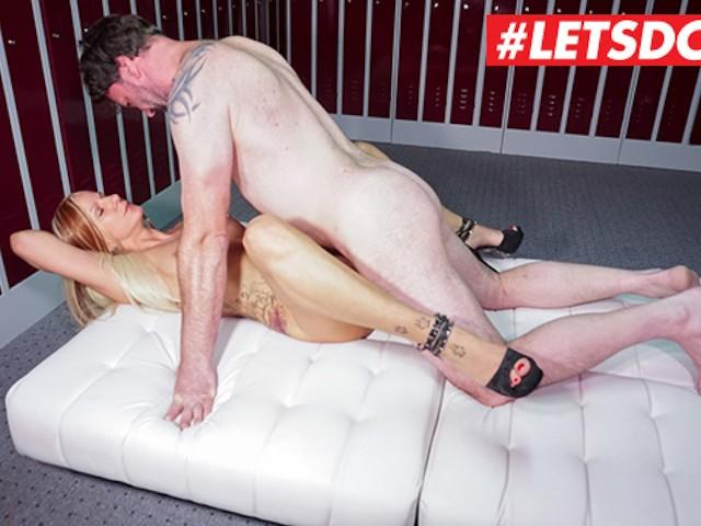 Letsdoeit - Lustful German Housewife Rides Bosses Dick in Locker Room