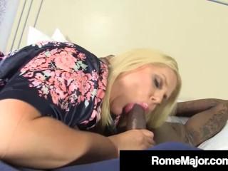 Blonde Milf Karen Fisher Gets Major Fucked By BBC Rome Major
