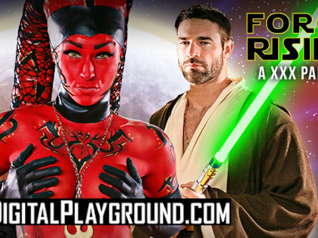 Digitalplayground - Cosplay Teen Kleio Valentie Get Painted Up and Fucked in Starwar's Porn Parody