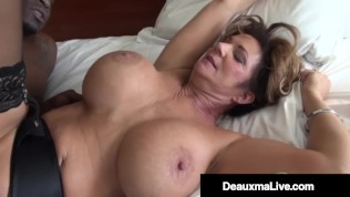 Voluptuous Vixen Deauxma Fucks & Sucks On A Big Black Cock!