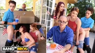 BANGBROS – 4th Of July Threesome With Monique Alexander, Adria Rae & Juan El Caballo Loco