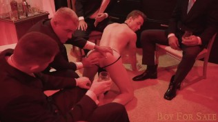 BoyForSale - Jock slave boy -Cole- shared and bred by dom daddies
