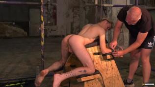 Master Sebastian Kane restrains slim twink and fingers ass