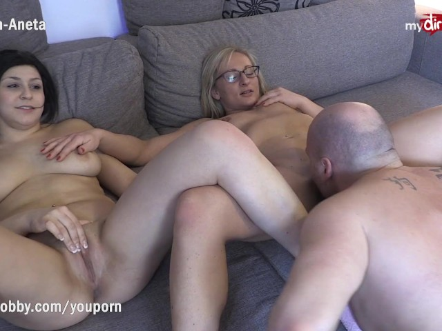 Mmf Busty Amateur Threesome