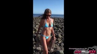 SofieMarieXXX – минет Софи Мари после дня на пляже