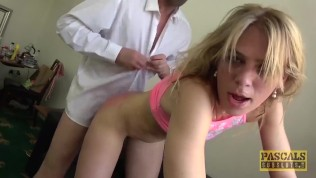 PASCALSSUBSLUTS Skinny Blonde Jentina Small Submits To Anal