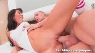 Asa Akira fucks a big dick hard