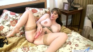British milf april rips her tights for easy access - 2 part 9