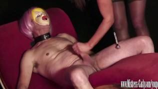Camsex99-SEXDOLLS Busty Mistress Fucks Her Sexdoll Then He Eats Cum Out Her Wet Pussy