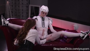 Athletic Maria Pie Dominates Rossy Bush With Strap On