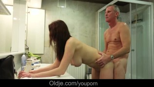 Free old men fucking young girls video