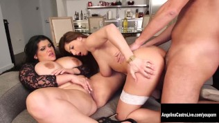Threesome porn star