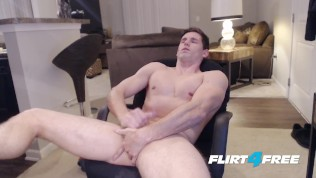 Flirt4Free Model Adonis Summoning – Hunky Ripped Straight Dude Fingers His Ass