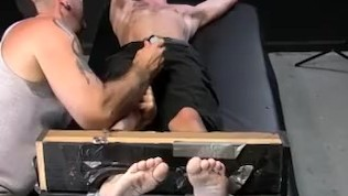 image Ricky larkin treats sleeping jc with a good foot licking