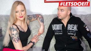 LETSDOEIT - German Tattooed Milf Films Her First Sex Tape