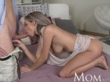 MOM Blonde milf enjoys a slow blowjob before full on sex