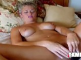 Mature Blonde Dildoing Her Wet Snatch