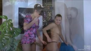 Lesbian pantyhose sex