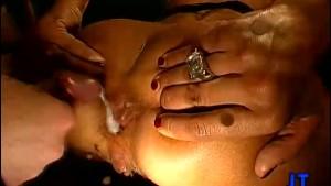 Hot Brunette Creampied