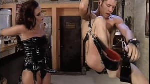 Man fucked by Dominatrix